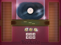 rockola music interface for e-magazine