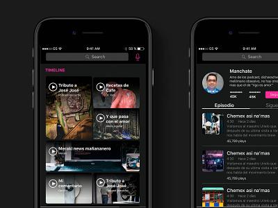 JUUM_ podcast app design ux app ui