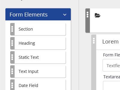 Electronic Form Builder ux design ui design form form builder