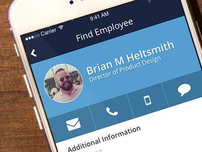 Employee Profile flat ui onboarding hr software mobile