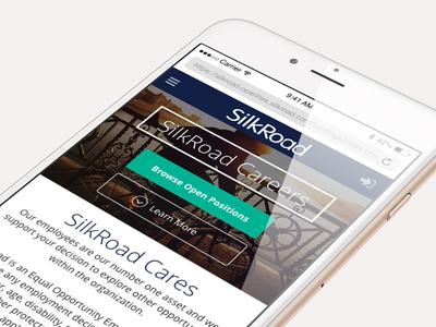 Mobile Career Portal - Landing Page career portal hr software ui design