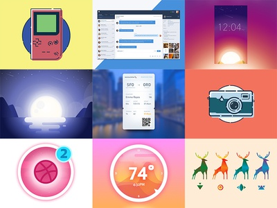 My Best Shots of 2016 app icon flat interface ux ui illustration