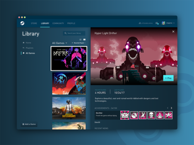 Steam Redesign - Product Detail