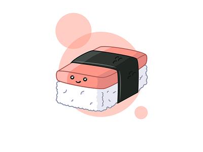 Spam Musubi illustration fish cute food rice musubi spam sushi