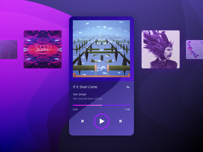 Music Player gradient interface mobile app audio multimedia player music daily ui