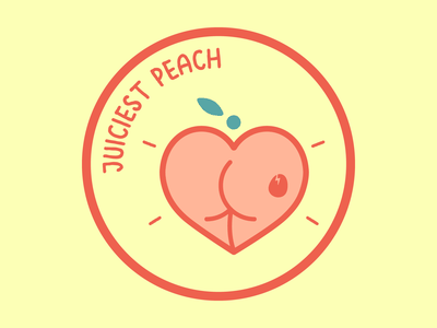 Dirtybird Campout Patch 1 vector design logo flat icon illustration camp scouts badge patch edm dance fruit emoji booty butt peach