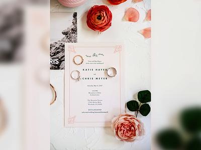 Wedding Invite elegant simple baskerville futura typography celebration party marriage print invitation invite wedding
