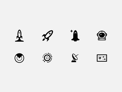 """Command Center"" Icon Exploration rocket communication dial satellite radar astronaut ship space illustration design interface ui software icon app settings panel control center command"