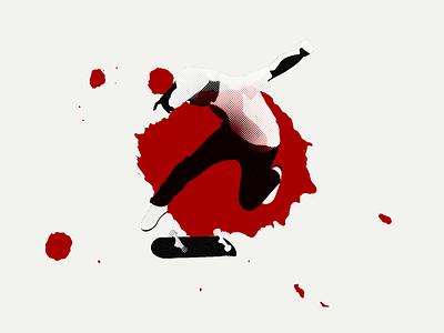 Skateboarding paint halftone design vector athlete sports professional skateboard eric koston skater skateboarding illustration