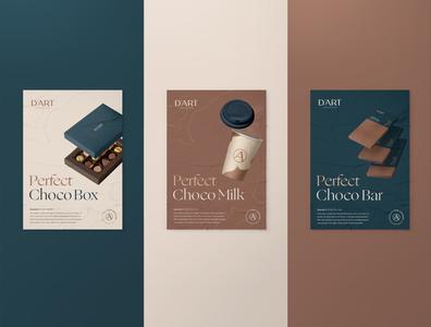 D'Art Poster poster design brand identity brand chocolate aesthetic logo design logo typography branding graphic design