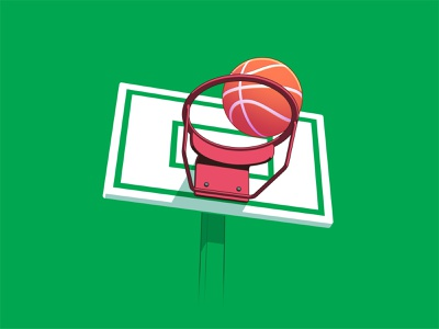 Basketball easymetry basketball ball basket madrabbit