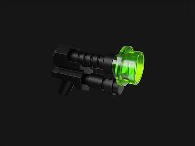 Pew, pew 3d lego weapon gun blender madrabbit