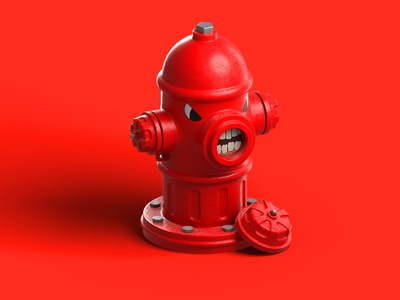 Angry Hydrant emotion angry blender hydrant madrabbit