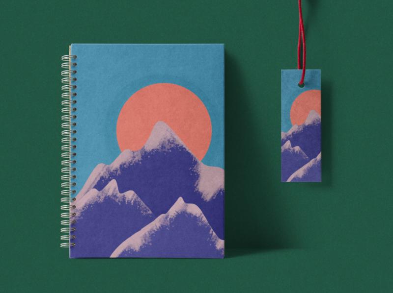 packaging design   mountain range sketchbook packaging procreate pocket branding illustration mockup packaging design