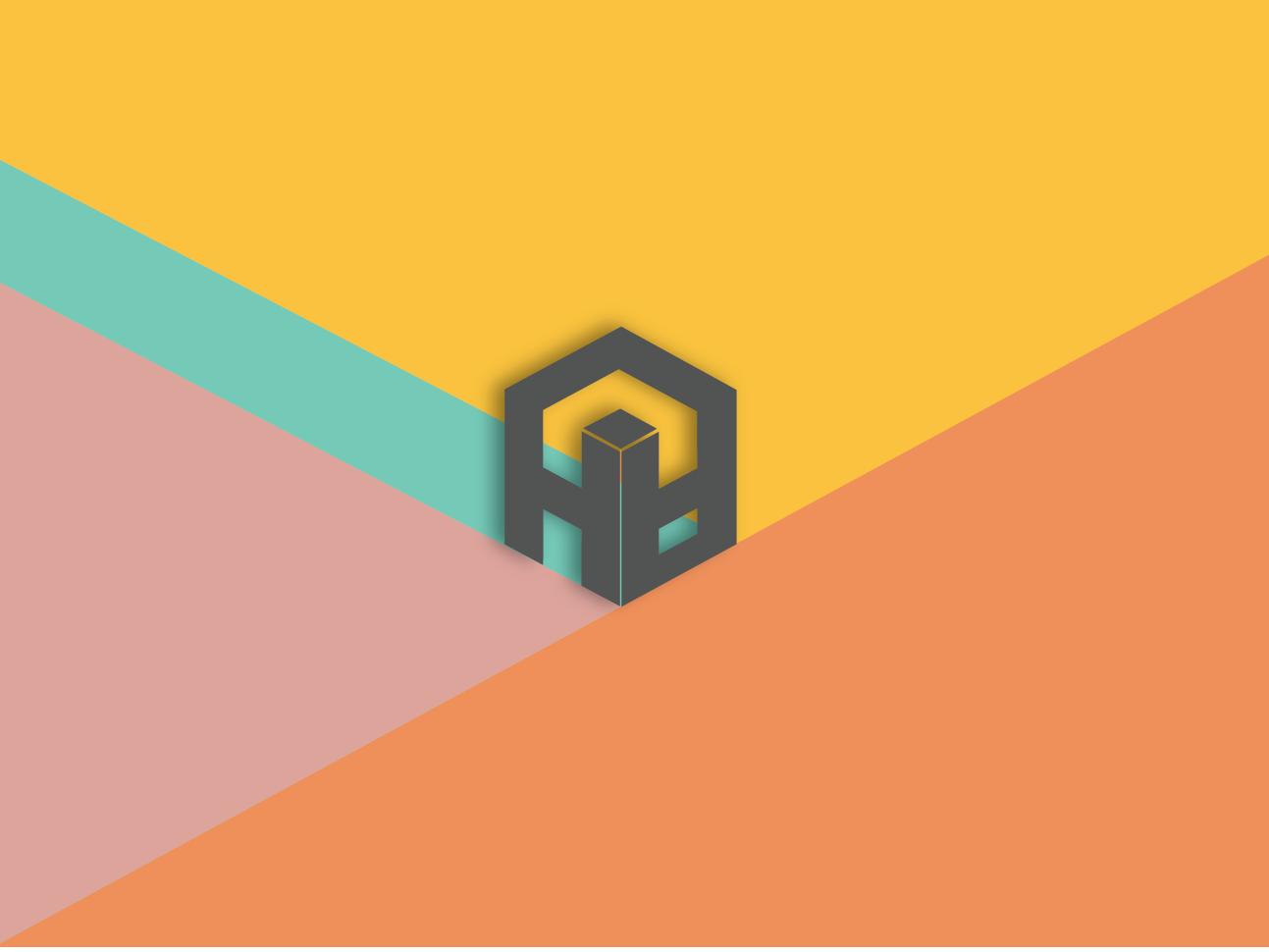 HLH | Logo design flat typography branding design logo illustration