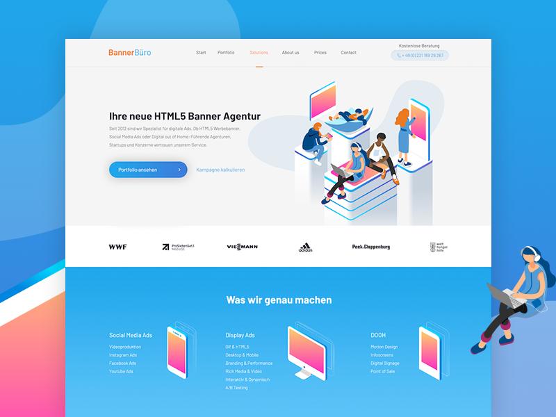 Bannerbüro Relaunch webdesign digitaldesign digitalnative graphicdesign ux design ux website