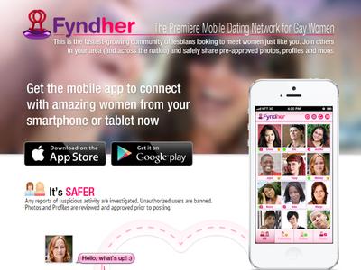 Fyndher - landing page