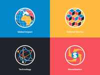Web site iconset and logo for digital marketing company
