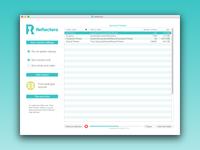 Reflectera preserving Photos & Videos sync app UI (OSX/WIN)