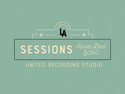 CHB   LA Sessions concept instruments studio vector los angeles music vst typography vintage logo visual design artwork branding