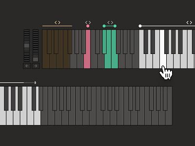 SINE   keyboard UI notes berlin los angeles san francisco techno developer holographic juice vector instruments app ux player visual design product design software music product design ui