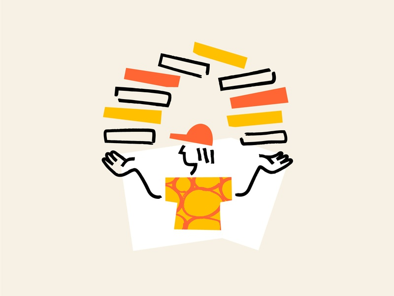 Pizza boy - UI illustration texture app icon branding pizza ui minimal design vector illustration
