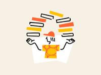 Pizza boy - UI illustration
