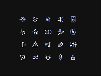 Native Instuments   Icons ios user interface music product design mobile sharp symbol iconography icon app iconset instruments native dutone minimal design ui
