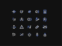 Native Icon suite ios user interface music product design mobile sharp symbol iconography icon app iconset instruments native dutone minimal design ui