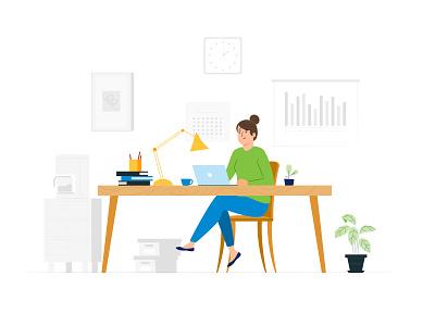 Info Illustration landing page flatillustration dashboard flat character cartoon illustration vector