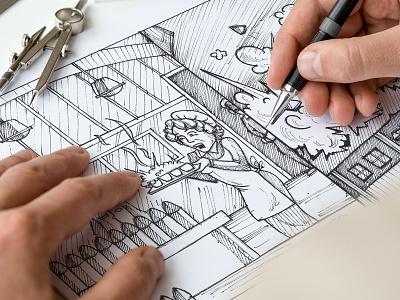 Storyboard storyboard artist hand drawn sketching sketch storyboarding storyboard