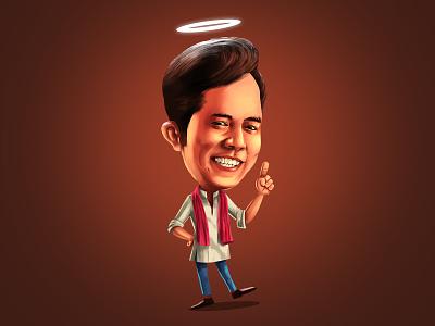 Caricature for Indian TV series funny bihari indianillustration digital painting digitalart illustration caricatures caricature character mascot cartoon