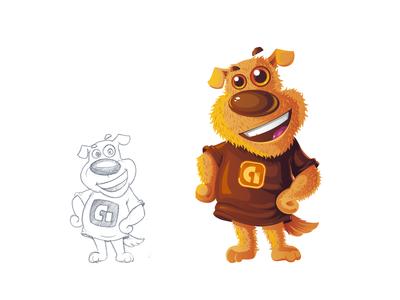 Dog - Character design for Google app development team.