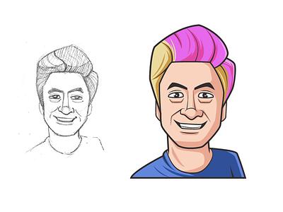 Felipe Neto Avatar Illustration felipeneto dp picture profile body face illustration vector avatar cartoon