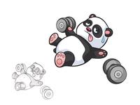 The Struggle is real - Panda tshirt design