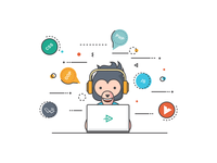 Developer - Landing page illustration