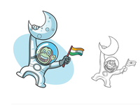 Indian Astro on Moon