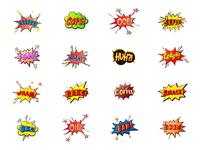 Pop Art speech bubble stickers
