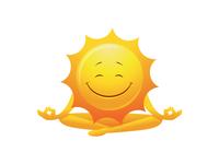 Happy International Yoga Day - Meditating Sun