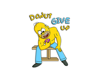 Donut Give Up - Simpson's concept