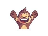 Yay! Happy monkey twitch emote