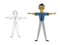 Flat Vector Character illustration