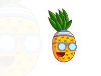 Summers Cool - Pineapple cartoon charatcer
