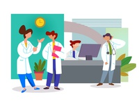 Flat Illustration for a Medical Platform