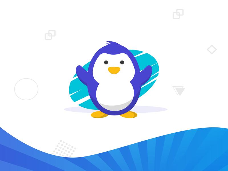 Penzi - Penguin Mascot Design avatar branding business happy penguin ui flat cool cute character mascot illustration cartoon vector
