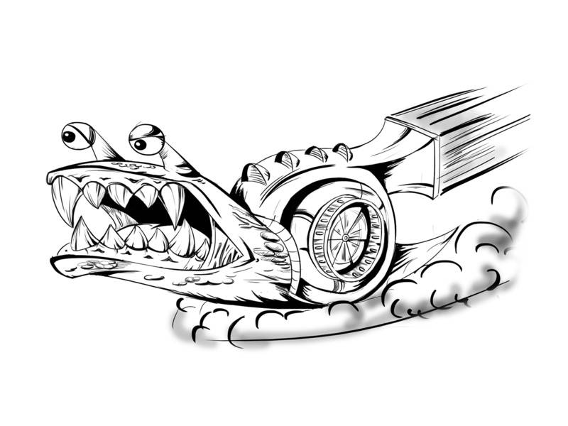 Turbo Snail Concept art concept sketch detailed snail turbo character mascot illustration cartoon vector