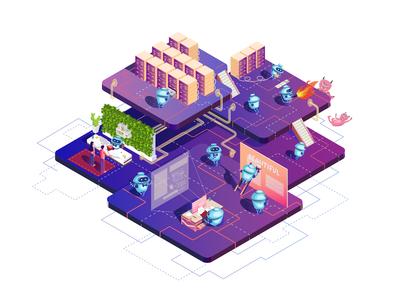 Robots Website Illustration
