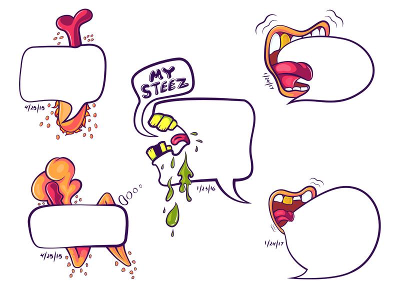 Bubbletudes - Bubbles with Attitude attitude bubbletude speech bubbles bubbles design face happy avatar character mascot cartoon illustration vector