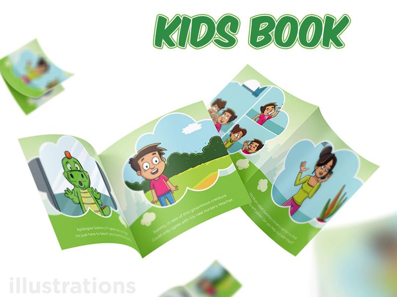 The Polite Dinosaur - Kids Book character illustration kindle kids art kids books kids books artist dinosaur cartoon book kids illustration kids book