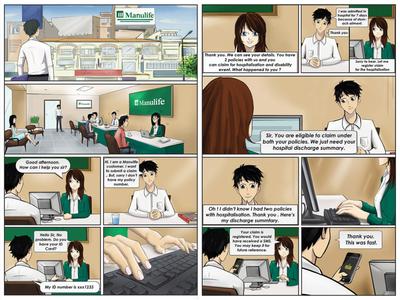 Comic Illustrations for Manulife happy illustrations funny cartoon comic art comic illustration illustration comic
